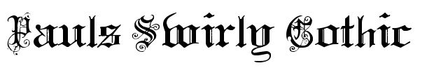 Pauls Swirly Gothic Font