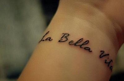Татуировки на итальянском языке: проявите свою индивидуальность